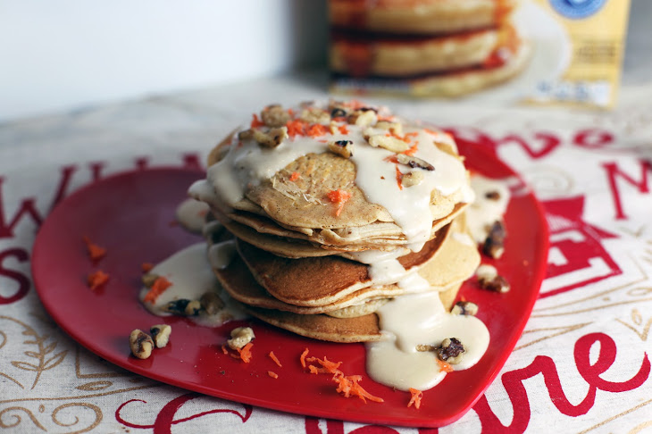 Carrot Cake Pancakes with Brown Sugar Cream Cheese Icing DINA DELEASA DISHITGIRL FABZLIST